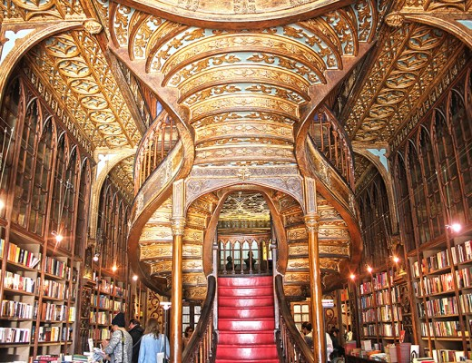 Most beautiful bookshop in Europe - Livraria Lello in Porto