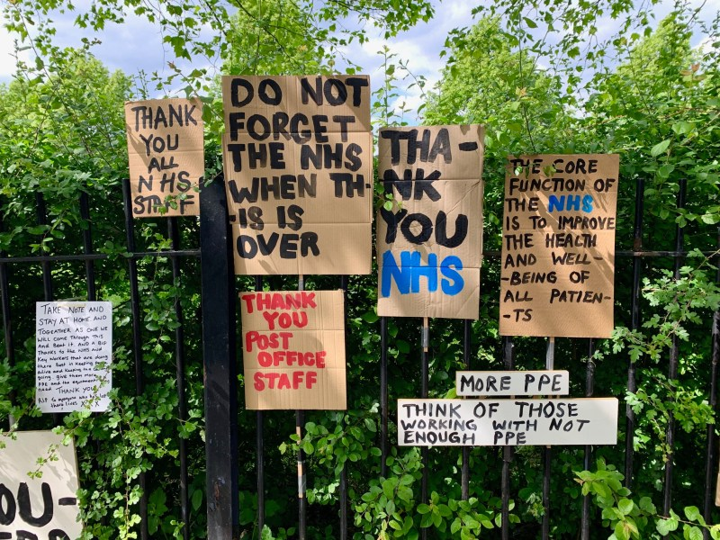 Messages of Support Left for NHS & Key Workers on Roman Road, East London |  The Culture Map