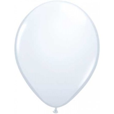 white latex balloon delivered