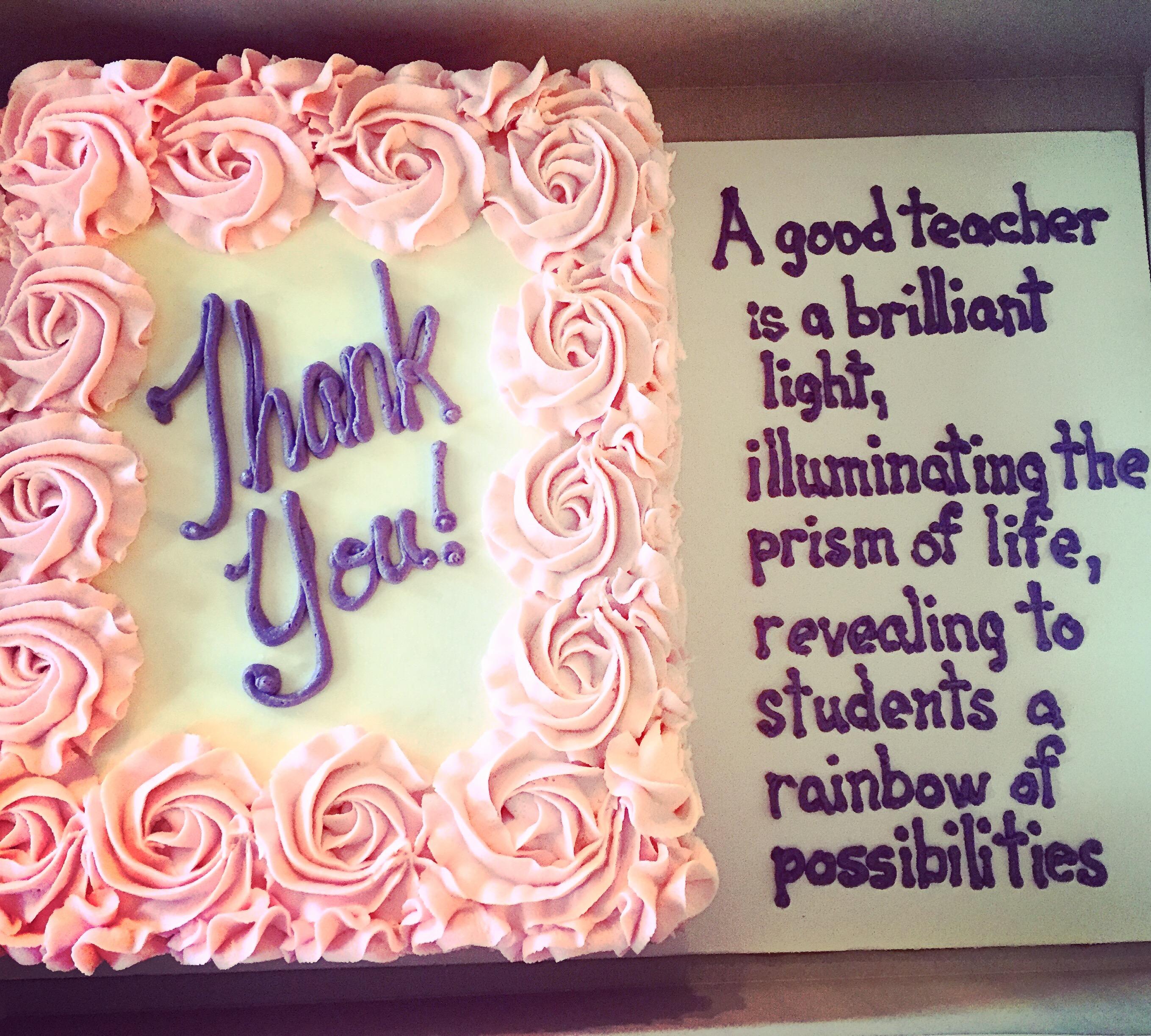 Teacher Thank You Cake Cake Ideas T Teacher Cake And