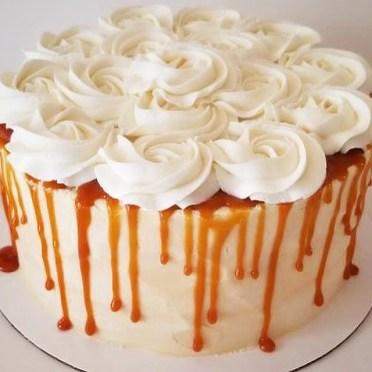 salted caramel buttercream cake