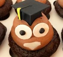 Oh poop graduation emoji cupcakes