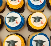 cap and scroll yummy image cupcakes