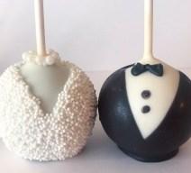 Bride and Groom Wedding Cake Pops