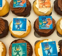 Order PJ Mask Cupcakes online for delivery! We're located in Fairfax, Virginia and deliver our cupcakes, balloons in Northern VA and the DC area: Aldie, Annandale, Arlington, Alexandria, Ashburn, Bristow, Burke, Chantilly, Clifton, Centreville, Fairfax, Fairfax Station, Falls Church, Gainesville, Great Falls, Haymarket, Herndon, Manassas, Mclean, Oakton, Reston, Springfield, Sterling, South Riding, Tysons, Vienna and Washington DC