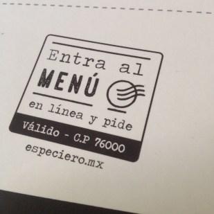 especiero menu