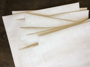 a new stack of tyvek folders