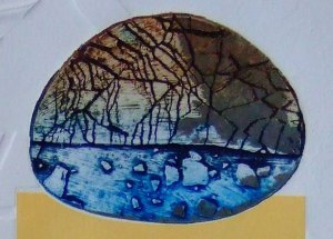 Print detail with crackle texture