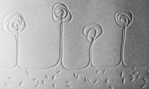 embossed string print