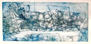print from aluminium foil plate by Sinclair Ashman