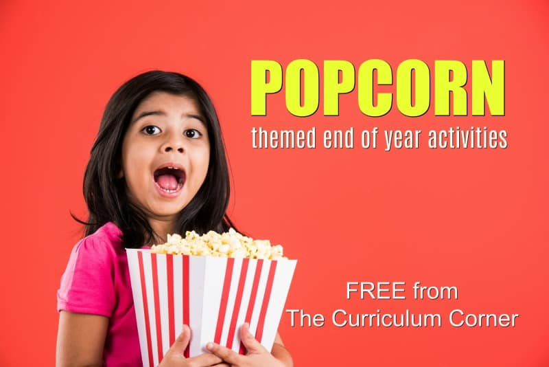 Take a look at our popcorn end of the year activities! Includes math, word work & more!