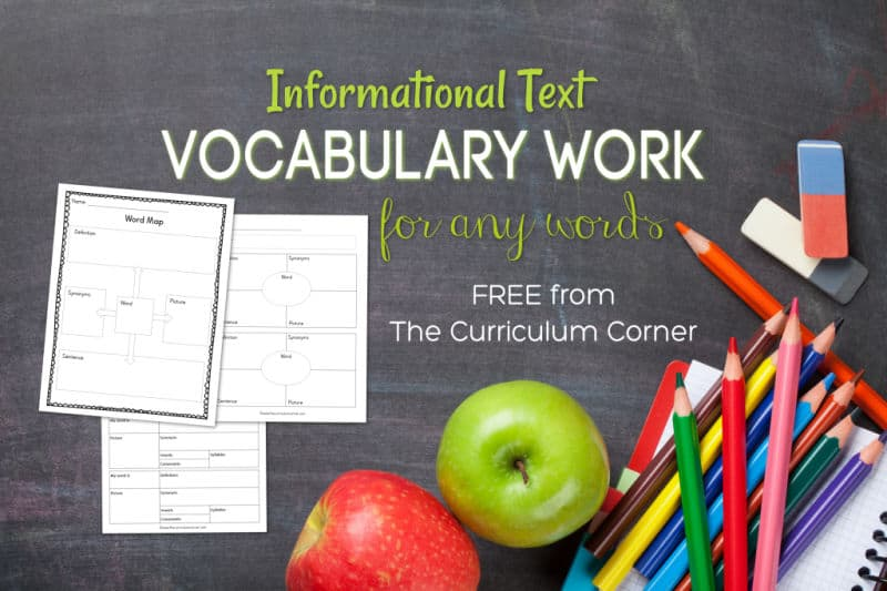 This informational text vocabulary set will help your students learn and apply new words, created to fit any word list.