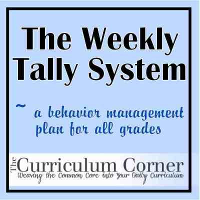 The Daily Tally System –  a Behavior Management Plan