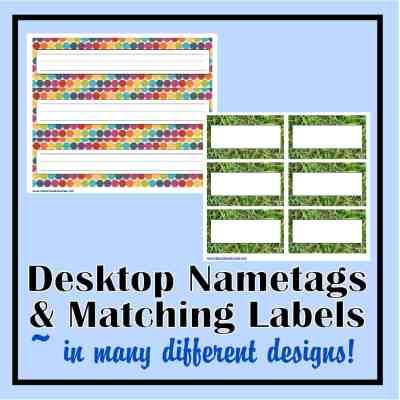 Desk Nametags & Classroom Labels