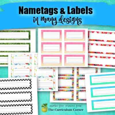Desk Name Tags & Classroom Labels