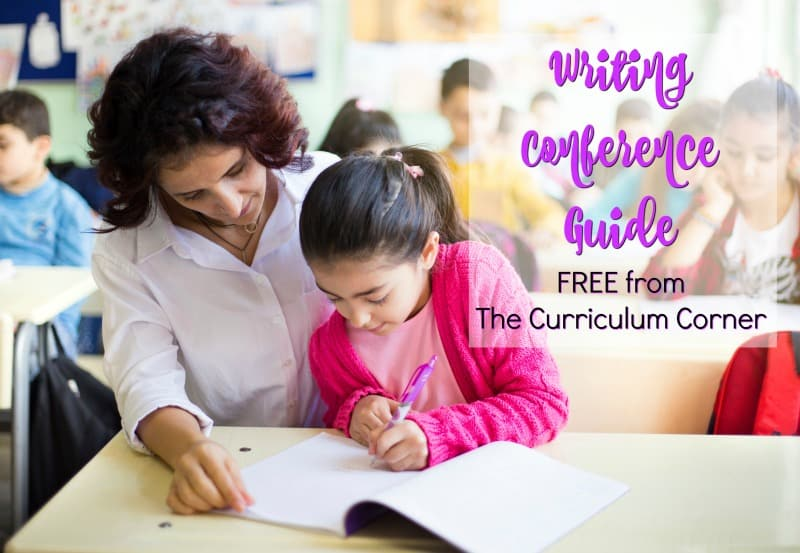 This free writing conference guide is designed to help you get starting with writing conferences in your writing workshop.
