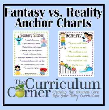 Fantasy Versus Reality Anchor Charts
