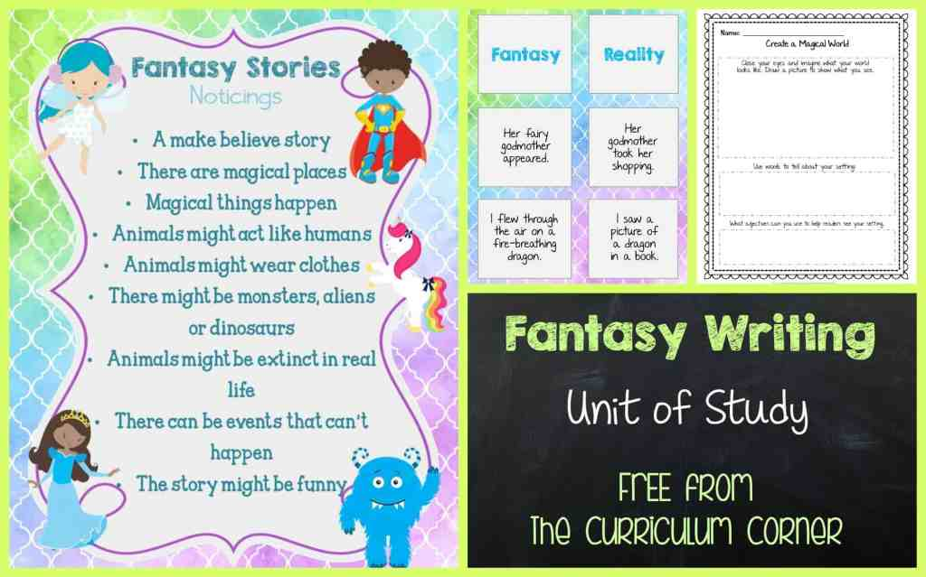 FREE Fantasy Writing Unit of Study from The Curriculum Corner