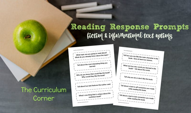 This collection or free reading response prompts for fiction and informational text can be used in a variety of ways in your classroom.