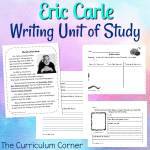 This free writing workshop unit of study focuses on using Eric Carle as a mentor author. Created by The Curriculum Corner