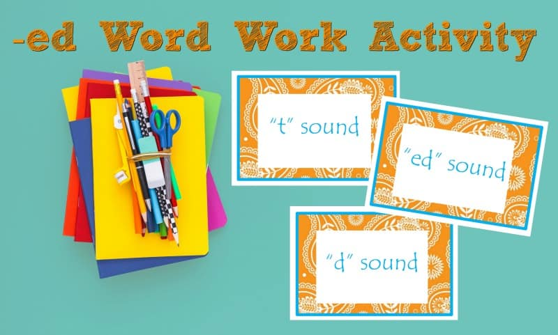 When working on -ed word endings, some readers need help understanding the different sounds the -ed makes at the end of the word.