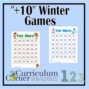 Plus Ten Winter Games by The Curriculum Corner