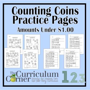 Counting Coins Practice Pages FREE from The Curriculum Corner