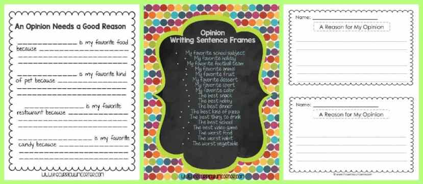 FREE Opinion Writing Unit of Study from The Curriculum Corner FREEBIE | blank books, mini-lesson & more | Transition Phrases