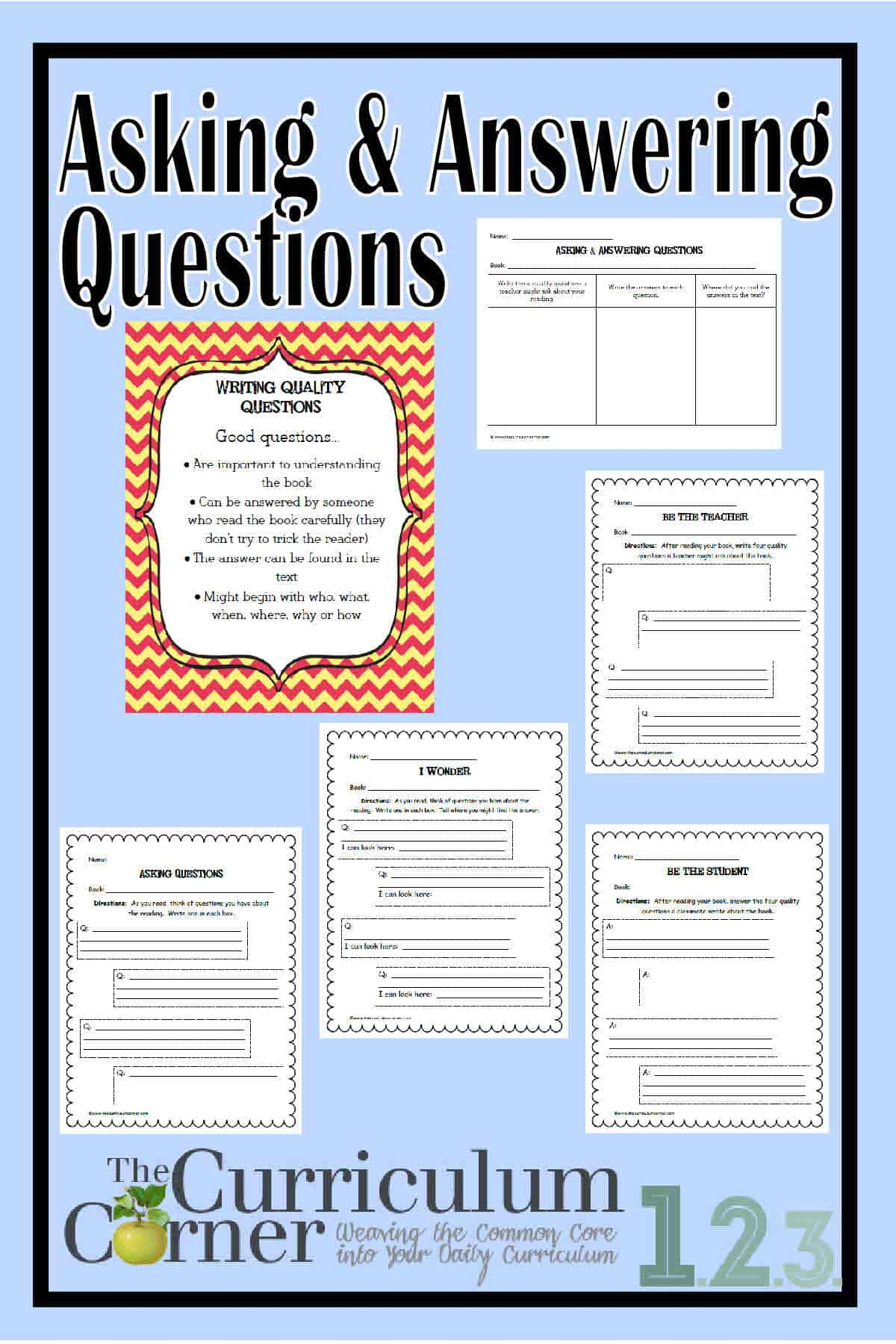 Ask Amp Answer Questions In Informational Text