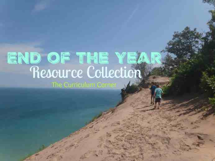 HUGE FREEBIE FIND! Everything end of the year resources from The Curriculum Corner. Summer reading goals, camping fun, popcorn theme and so much more!