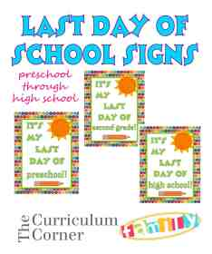 fAmazing collection of end of the year activities, printables & more free from The Curriculum Corner Worth checking out!