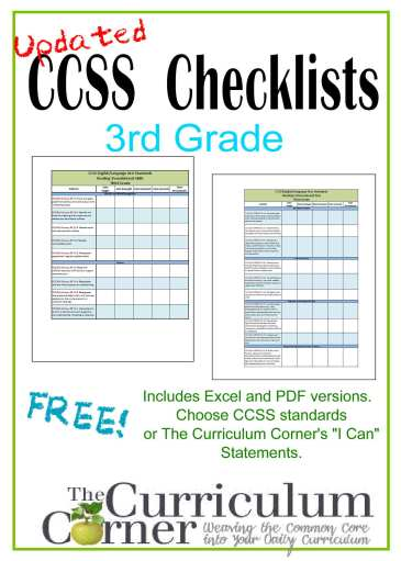 3rd Grade I Cans Checklists CCSS Checklists & I Can Checklists for 3rd Grade | FREE | from www.thecurriculumcorner.com