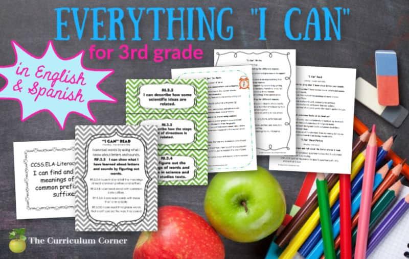3rd Grade I Cans