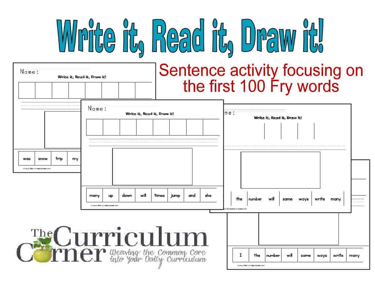 First 100 Fry Words Read It Write It Draw It