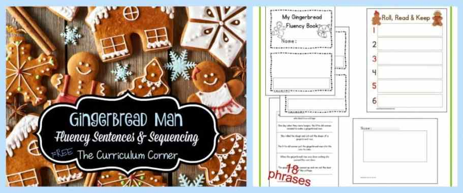 These gingerbread fluency & sequencing sentences are a great free addition to your December literacy centers.