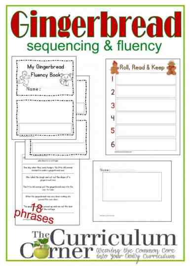 Gingerbread Man Sequencing & Fluency Phrases w/ Many Activities FREE from The Curriculum Corner