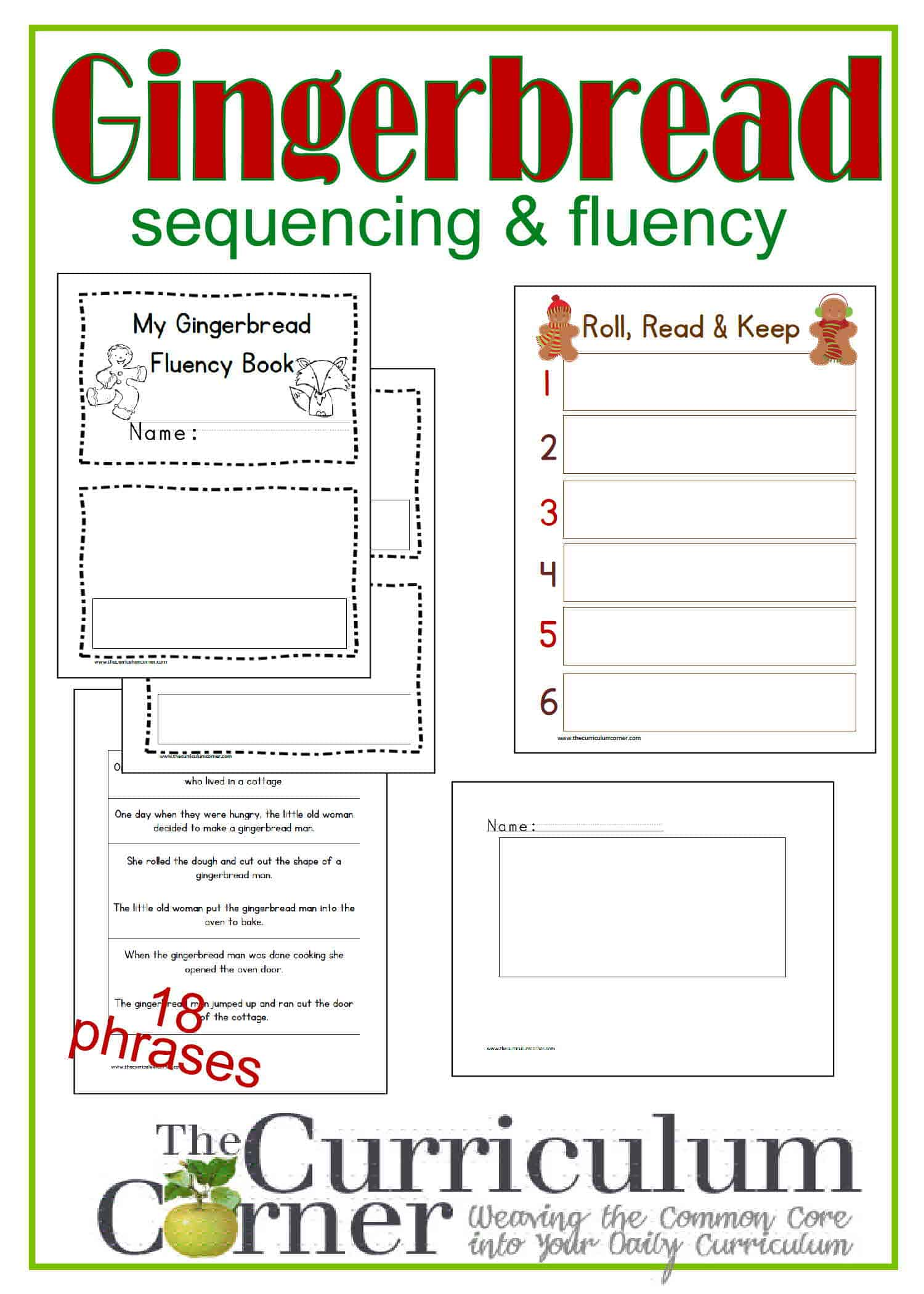 Sequencing Fluency w The Gingerbread Man The Curriculum – Gingerbread Man Worksheets