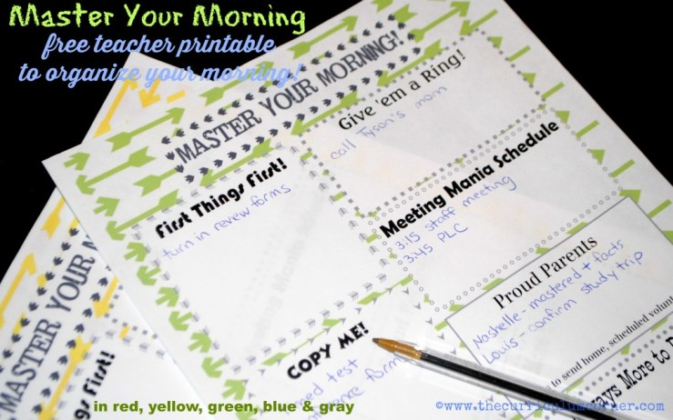 Use these colorful and fun morning organizers to help your morning run smoothly. They are perfect for those hectic school mornings!