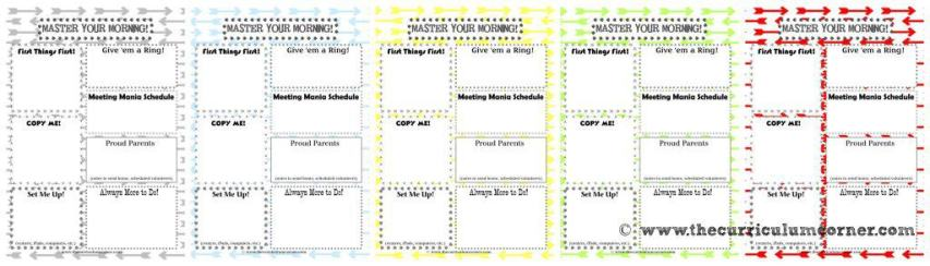 Master Your Mornings with this great FREE teacher printable - to-do checklist for mornings from The Curriculum Corner