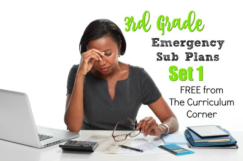We have created a set of 3rd grade emergency sub plans for those days when an unexpected absence pops up.