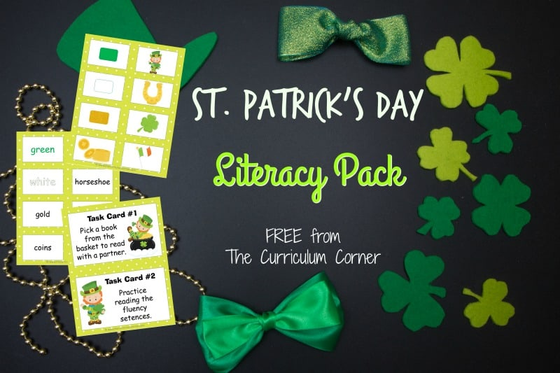 St Patricks Day Word Cards W Activities The Curriculum Corner 123