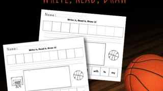 Basketball Themed Write! Read! Draw!
