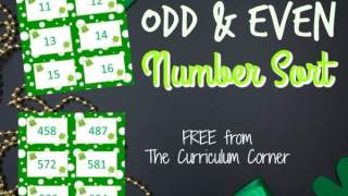 St. Patrick's Day Odd & Even Number Sort