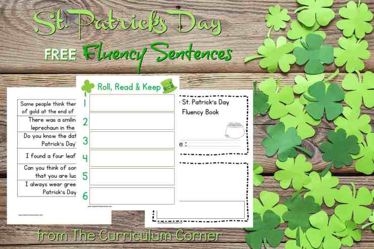 FREE St. Patrick's Day Fluency Sentences