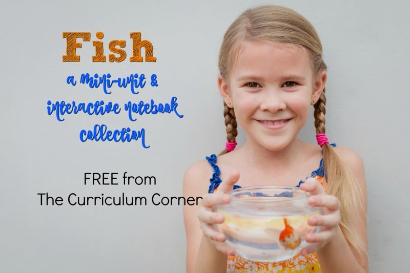 This free fish unit of study contains an assortment of activities and interactive notebook pages for use in your classroom.