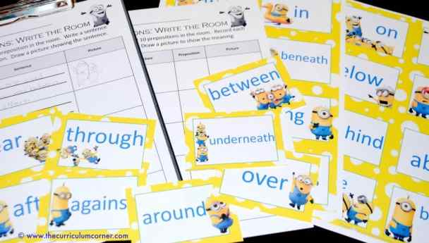 Find the Minions: Preposition Write the Room Activity from The Curriculum Corner