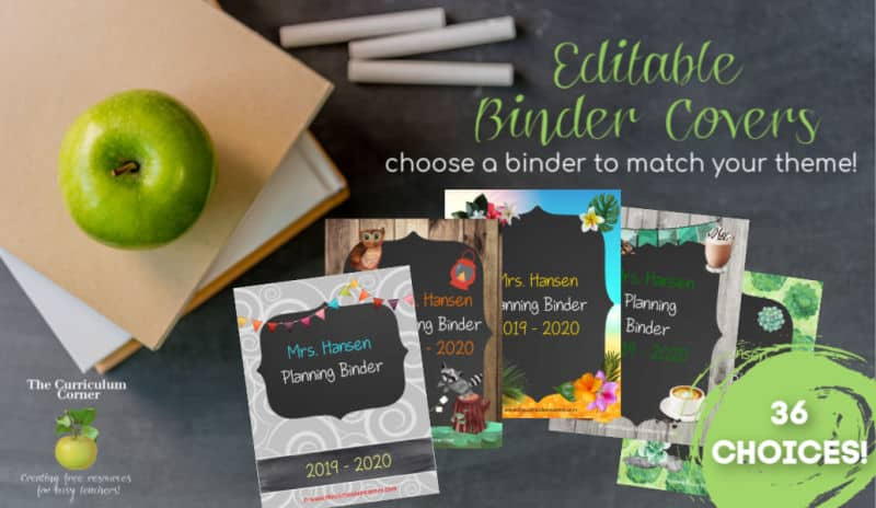 image relating to Free Editable Printable Binder Covers named Editable Handles for Binders - The Curriculum Corner 123