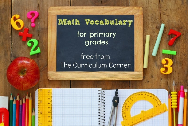 This free set of math vocabulary resources is designed for primary classrooms and includes 142 words with definitions, in kid-friendly terms!