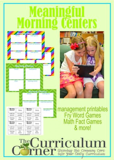 These morning center suggestions are designed to help you put together a meaningful morning rotation.