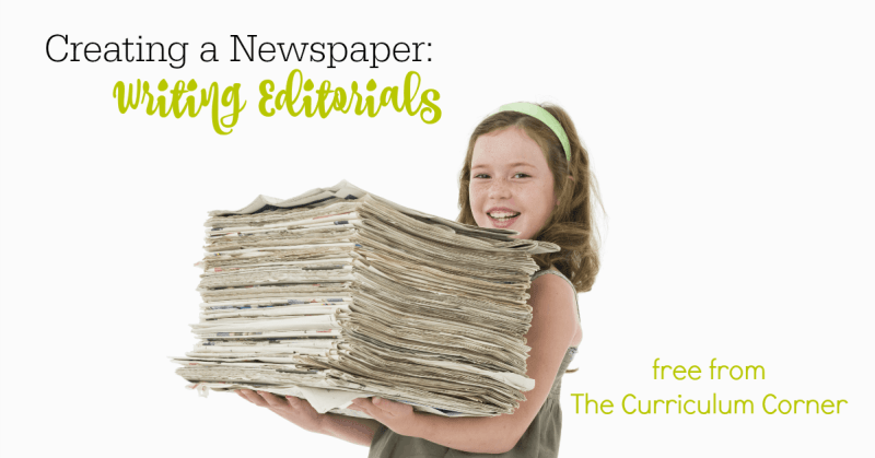 This collection of free resources can be used to help your student writers as they learn about writing editorials for newspapers.